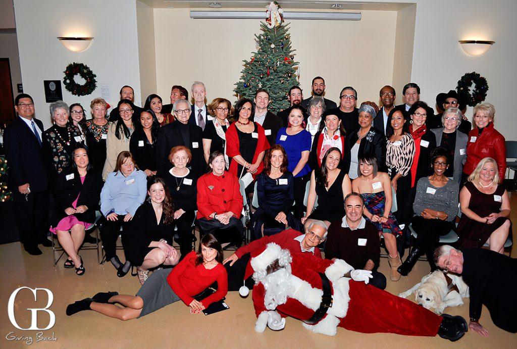 Volunteers attending Holiday Toast in their honor