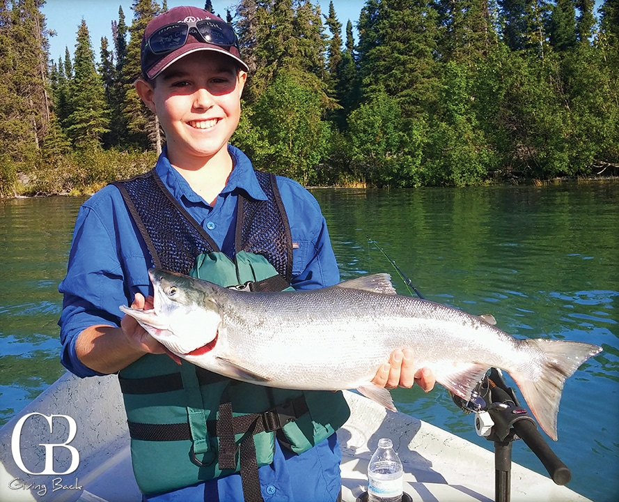 Wish Kid Travis fishing