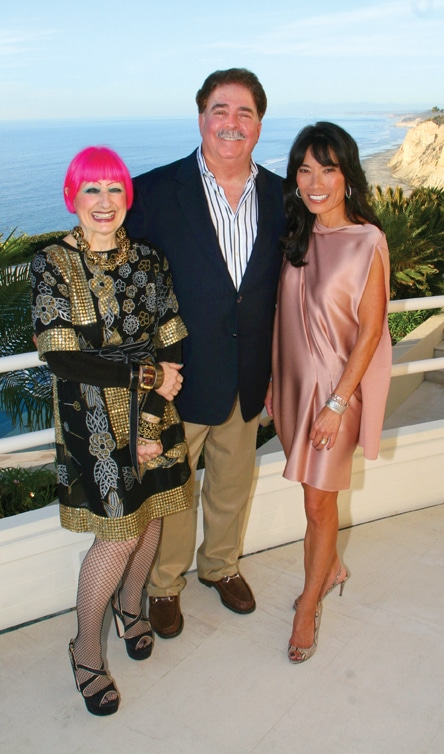 Zandra Rhodes with Richard and Jennifer Greenfield.JPG