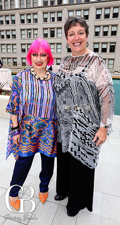 Zandra Rhodes and Judi Sanzo